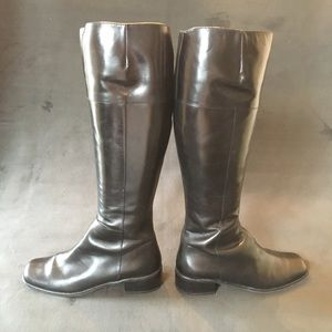 Black Leather Riding Boot - Size 6.5
